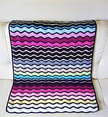 Úžitkový textil - Dúhové vlnky - 4615649_