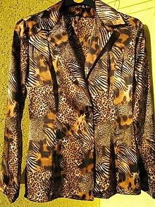 Kabáty - AKCIA saténové leo sako - 4619823_