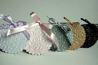 Papiernictvo - Vianočné menovky - vločková kolekcia II. - 4624480_