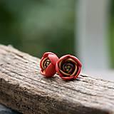 Náušnice - jeseň žiari mini (chirurgická oceľ) - 4621304_