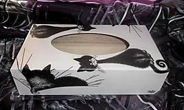 Krabičky - servítkovník mačky - 4621245_