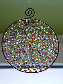 Dekorácie - deň je krásny priemer 10cm -dekorácia - 4624789_