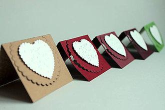 Papiernictvo - Vianočné menovky - vločková kolekcia srdiečková - 4624490_