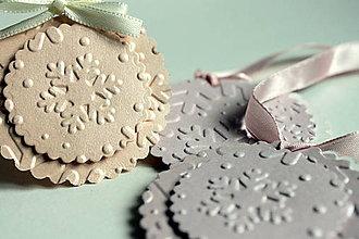 Papiernictvo - Vianočné menovky - perleťové - 4624515_
