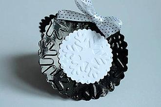 Papiernictvo - Vianočné menovky - bielo čierna - 4624524_