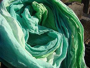 Šály - Zelená so zelenou - 4627423_
