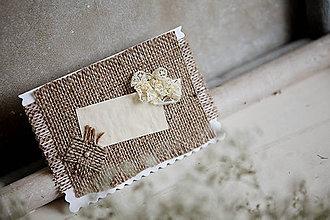 Papiernictvo - Svadobná pohľadnica - Rustic #2 - 4625925_