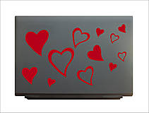 Dekorácie - NB09 Nálepka na notebook - SRDCIA - 4627064_