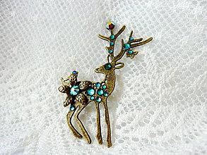 Odznaky/Brošne - Brošňa s jelenčekom - 4627467_