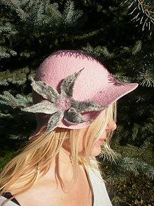 Čiapky - Plsteny klobuk ruzovy sen - 4626983_