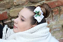 Ozdoby do vlasov - vianočná čelenka - 4627409_