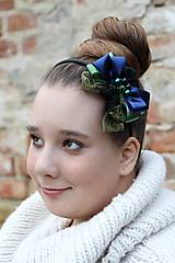 Ozdoby do vlasov - zeleno-modrá - 4627445_