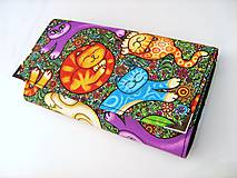 Peňaženky - Veselé kočičky - 17 cm, na spoustu karet - 4628724_