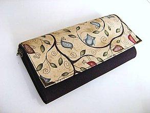 Peňaženky - Pípání a houkání v tmavší - velká na spoustu karet - 4628647_