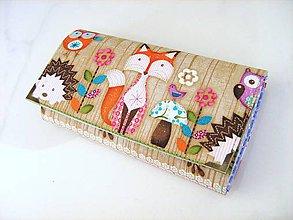 Peňaženky - Zvířátka v lese - 17 cm, na spoustu karet - 4628774_