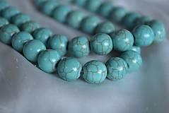 Minerály - Modrý tyrkenit, 12mm, 0.25€/ks - 4627619_