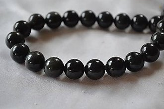 Minerály - Čierny onyx, 8mm, 0.13€/ks - 4625864_