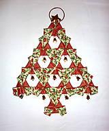 Vianoce - Vianočný textilný ozdobný stromček. - 4625620_