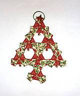 Vianoce - Vianočný textilný ozdobný stromček. - 4625665_