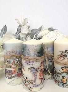 Svietidlá a sviečky - Vianočný quarted sviečok - 4625305_