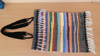 Kabelky - Tkaná pestrá taška - 4629117_