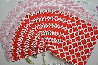 Obalový materiál - papierovy sacok cerveny kvet - 4631139_