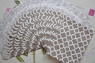 Obalový materiál - papierovy sacok sivy kvet - 4631145_