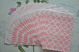 Obalový materiál - papierovy sacok staroruzovy kvet - 4631171_