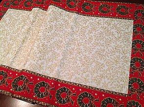Úžitkový textil - Vianočná stóla s vencami - 4632640_