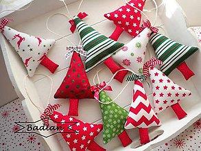 Dekorácie - Vianočné stromčeky ( sada 10ks) - 4630925_