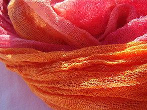 Šály - OranžPink malý - 4630750_