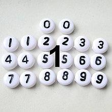 Korálky - Číslice plast-lentilky-1ks - 4634682_