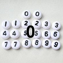 Korálky - Číslice plast-lentilky-1ks - 4634763_
