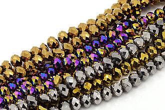Korálky - SKO4730, Sklenené KORÁLKY Abacus 6mm MULTI /10ks - 4630425_