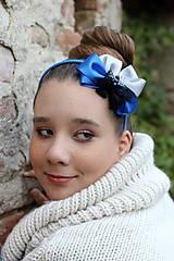 Ozdoby do vlasov - kráľovská modrá - 4631344_
