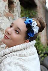 Ozdoby do vlasov - kráľovská modrá - 4631356_