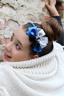 Ozdoby do vlasov - kráľovská modrá - 4631357_
