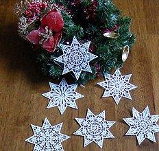 Dekorácie - vianočné vločky - 4630781_
