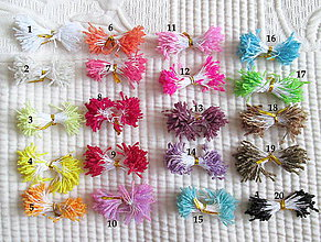 Polotovary - Piestiky do látkových kvetov, mix farieb / 10 ks. - 4632182_