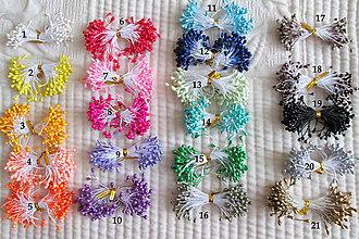 Polotovary - Piestiky do látkových kvetov, perličky, mix farieb / 10 ks. - 4632226_