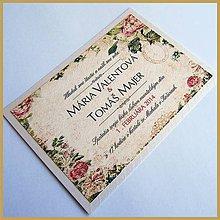 Papiernictvo - Svadobné oznámenie ~Vintage Silver~ - 4630801_