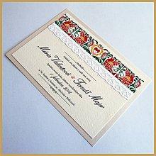 Papiernictvo - Svadobné oznámenie ~Folklor Silver~ - 4634070_