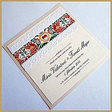Papiernictvo - Svadobné oznámenie ~Folklor Silver Kocka~ - 4634729_