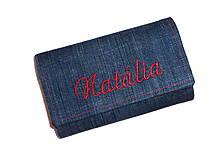 Peňaženky - Peňaženka - Riflová s menom. - 4629873_