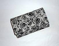 Peňaženky - Peňaženka - Čierne ruže. - 4629957_