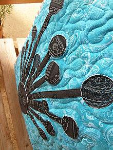 Úžitkový textil - Krajina divých kvetov No.2 - vankúš