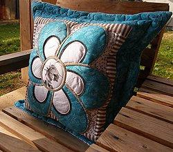 Úžitkový textil - Krajina divých kvetov No.2 - vankúš- kvet :) - 4634524_