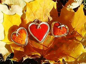 Sady šperkov - Horúce srdiečka-set-tiffany-keramika - 4636840_