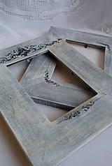 Rámiky - šedý rámik s ornamentom... - 4636284_