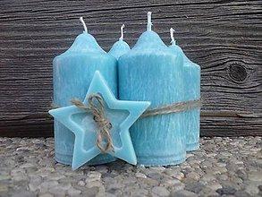 Svietidlá a sviečky - sviečky na adventný veniec s hviezdičkou - 4635131_